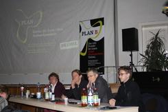 v.l.n.r. Kirsten Tackmann, Bernd Brouns, Harald Petzold, Tobias Bank, © TB
