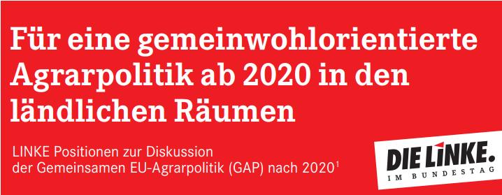 """Klicken Sie hier, um das Positionspapier """"Für eine gemeinwohlorientierte Agrarpolitik ab 2020 in den ländlichen Räumen""""herunterzuladen."""